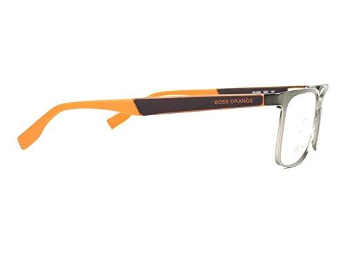 BOSS Orange - Montures de lunettes - Homme gris matt grau - orange X-Large