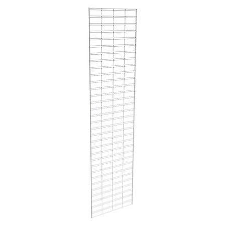 Wire Slatgrid Panel, White, 2ft. x8ft, PK3