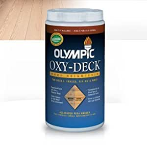 Olympic Oxy-Deck Wood Brightener 2.5lb powder makes 5 gallons for for deck/fence/siding