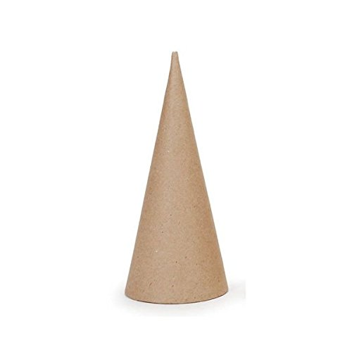 Darice Bulk Buy DIY Paper Mache Open Bottom Cone 7 x 3 inches (3-Pack) 2873-310 ()