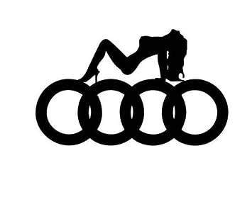 X Sexy Audi Logo Choice Of Colour CA Tuning Decal Sticker - Audi logo