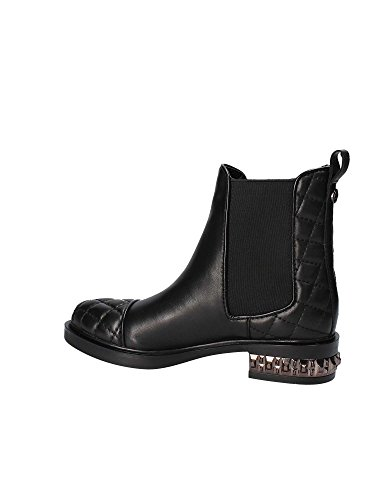 DONNA STIVALETTO HEBA GUESS BLACK LEATHER BEATLES 6gnqwnC81