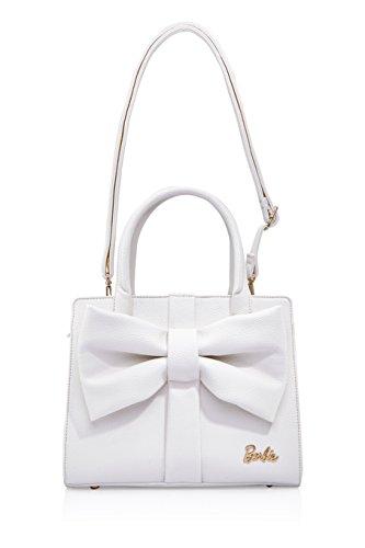 Barbie BBFB333 2017 Colección Nueva Bolsos Mujeres Lazos de Vintage Casual Blanco