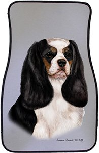 Tri Cavalier King Charles Spaniel Car Floor Mats - Carepeted All Weather Universal Fit for Cars & Trucks by Unknown (Image #1)'