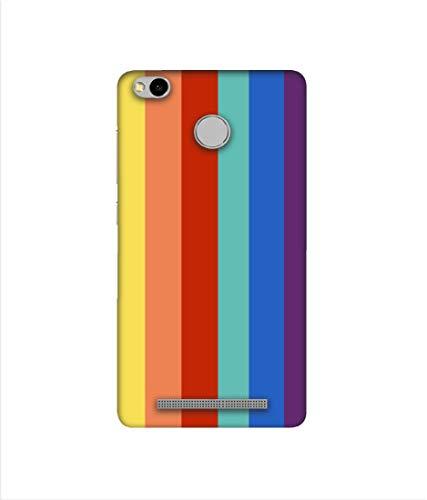 Casotec Rainbow Colors Design 3D Printed Hard Back Case Cover for Mi Redmi 3S Prime