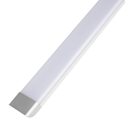 4FT LED Tube Light, 50W LED Integrated Batten Lights, 4500 Lumens, 6500K Daylight, Milky Cover, Fluorescent Fixture Replacement for Garage, Shop, Warehouse, Office, Market - 1 Pack
