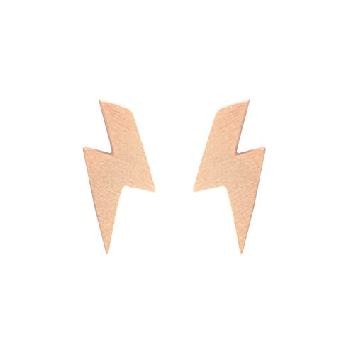 Altitude Boutique Lightning Earrings Lightning Bolt Earrings Gold Silver Rose Gold (Rose Gold) David Rose Lighting