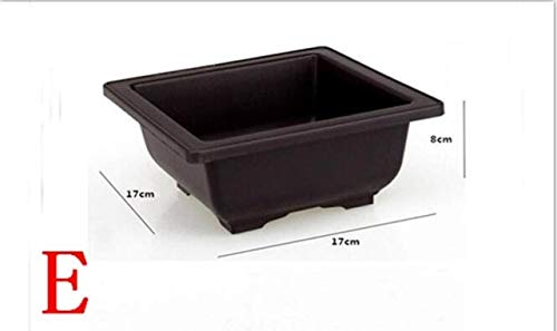 Bowl Planter - Flower Pot Imitation Plastic Balcony Square Plastic pots Flower Bonsai Bowl Nursery Basin Planter Imitation Rectangle Flower Pot