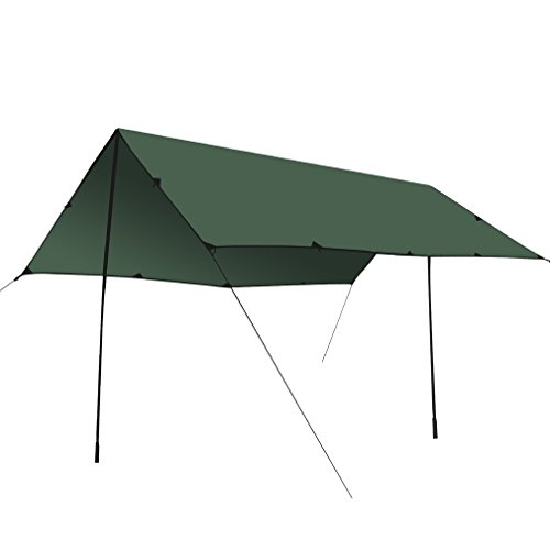 OUTAD Sun Shelters3x3 Meters Ultra-light 40D Silicon Coating Sun Shade Sail for Outdoor (Dark (Carport Deluxe Shelter)