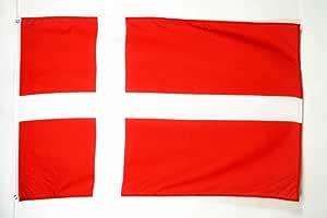 AZ FLAG Bandera de Dinamarca 150x90cm - Bandera DANESA 90 x 150 cm poliéster Ligero: Amazon.es: Jardín