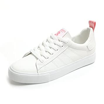 NGRDX&G Zapatos Femeninos Zapatillas Blancas 35-39, Rosa Blanco, ...