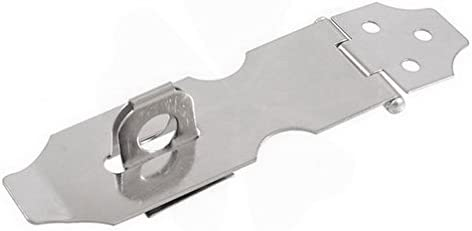 """Cupboard Safety Padlock Door Latch Silver Tone Hasp Staple 4.1"""" By FemiaD"""