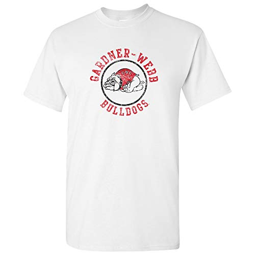 UGP Campus Apparel AS04 - Gardner-Webb Bulldogs Distressed Circle Logo T-Shirt - Large - ()