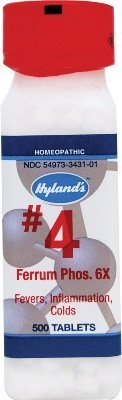 Phos Hylands Ferrum (Ferrum Phos 6x (500Tablets)Tissue Salt (Cell Salt) Brand: Hylands (Standard Homeopathic))