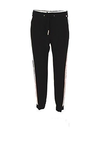 Pantalone Donna Elisabetta Franchi 42 Nero Pa03176e2 Autunno Inverno 2017/18
