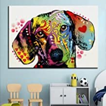 Print posterPainting Wall painting dachshund dog Home Decorative Wall Art Picture For Living Room paintng No Frame