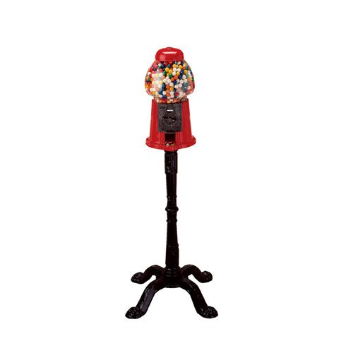(Ford Gumball Machine - Red, King Size with Stand, 1 gum ball machine)