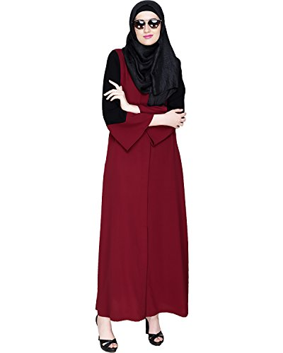 Modest Forever Folksy Wine Abaya Burkha for Women
