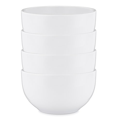 Q Squared Diamond Round Cereal Bowl, 5-1/2-inches, Set of 4, ()