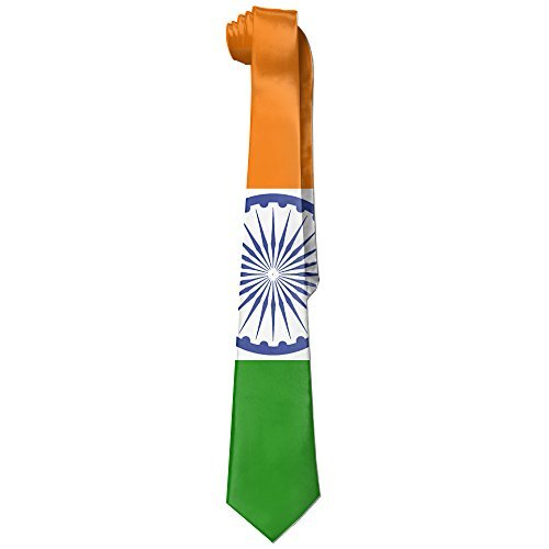 Men's India Flag Necktie Ties - Tie India