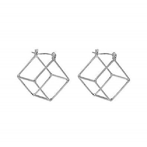 Graduation-Engineer Women Gift Cube Studs Earring Geometric Earring Silver color Made in Canada