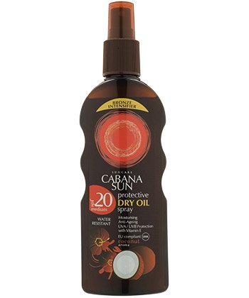 - Cabana Sun Deep Tanning Dry Oil Spray Coconut Water Resistant 200ml SPF6