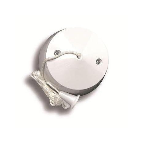 Interruptor de tirador para el techo del bañ o o aseo, 2 formas de tirar (10 Amperios). lga selectric