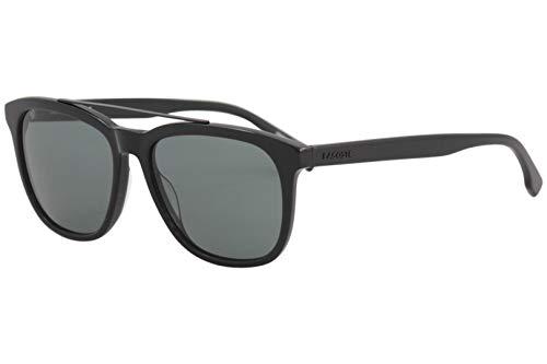Lacoste Men's L822S Rectangular Sunglasses, Black, 55 mm (Sunglasses Lacoste Black)