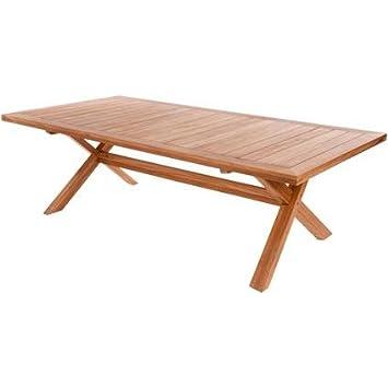 Grande table de jardin en bois de teck Imagination, fine et longue ...