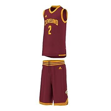 Adidas - Maillot et Short NBA Kyrie Irving Cleveland Cavaliers Enfant Junior Rouge: Amazon.es: Deportes y aire libre
