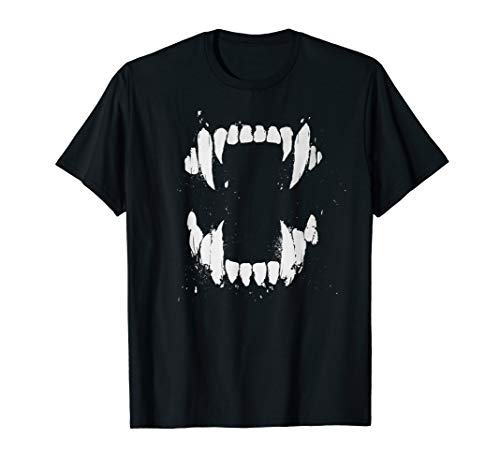 Funny Vicious Vampire Teeth Serial Killer Gift T-shirt]()