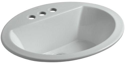Bathroom Sink Ice - KOHLER K-2699-4-95 Bryant Oval Self-Rimming Bathroom Sink with 4