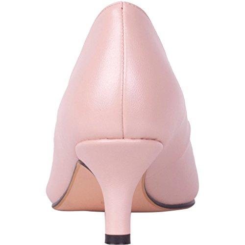 Calaier Femmes Cahalfway Bout À Bout 5.5cm Stiletto Slip-on Pompes Chaussures Rose