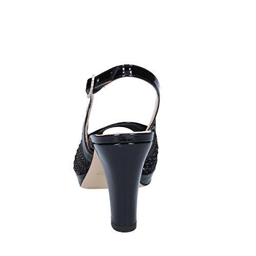 Musella Pelle Col Nero Scarpe Tacco Verniciata Donna 66BRr