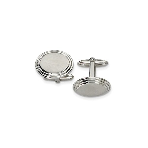 - Jewelry Pot Stainless Steel Engravable Polished Cuff Links
