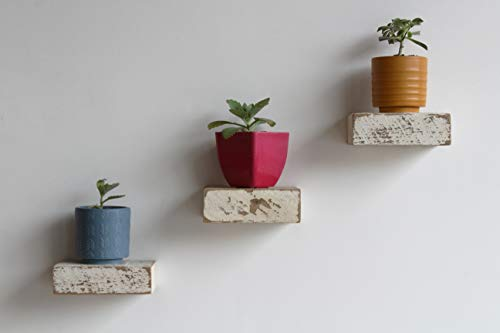 - Urban Legacy Small Reclaimed Wood Floating Shelves (White Wash 6
