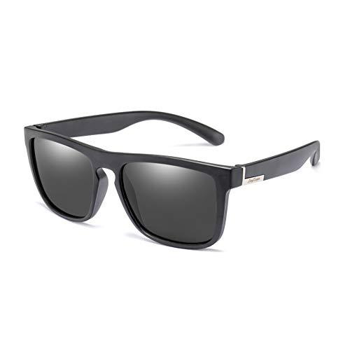 - Polarized Square Driving Sunglasses Women Men TR90 Unbreakable Sport Glasses Long Keeper (Grey)