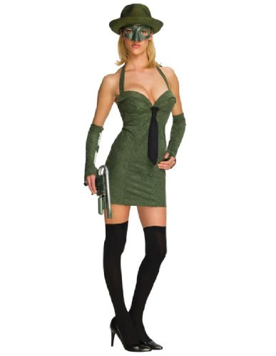[Secret Wishes Green Hornet Sexy Costume, Green, X-Small] (The Green Hornet Costume)