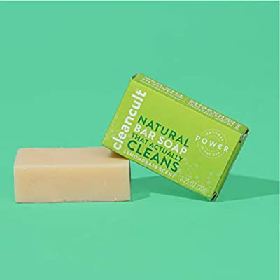 Natural Hand Bar Soap that Actually Cleans! - Lemongrass Scent - 100% Organic - Eco-friendly - Moisturizing - Safe for Kids - Baby Safe - Chemical Free - Effective | by cleancult