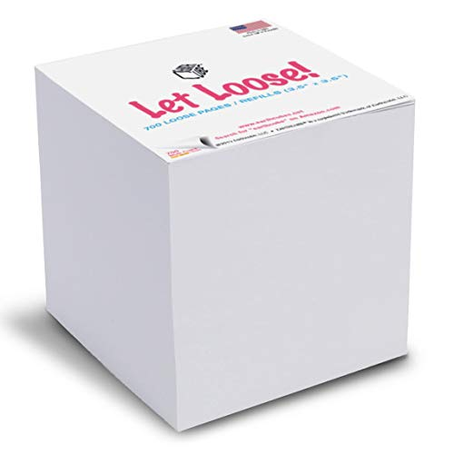 - EARTHCUBE Loose Refill Pages Blank White 3.5 Inch Size for Your Memo Holder (Not Sticky) Made in USA (Paper US or CAN) 700 Pages 100% Recycled 'Let Loose!'