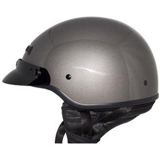 ZOX Unisex Adult Banos Gloss Titanium Half Helmet Z88-11023