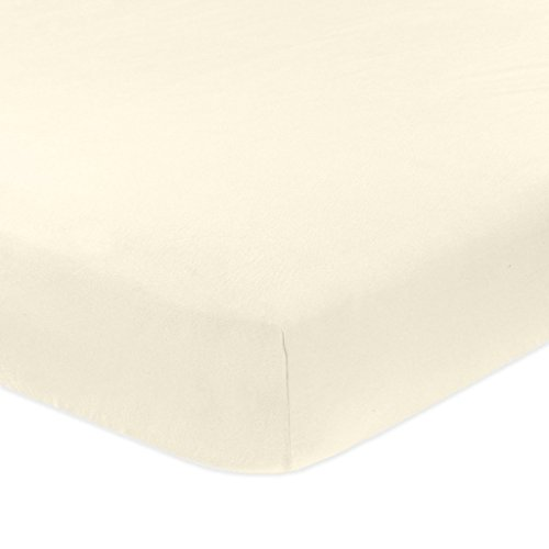 ARlinen Fitted Bottom Sheet Fit Mattress up to 18 Inch Deep Pocket-Premium Quality-400 Thread Count Fitted Sheet King Size Solid Ivory