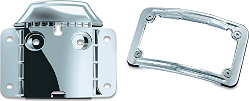 Kuryakyn 3146 Motorcycle Accent Accessory: Mounting Backplate for CVO License Plate Frame for 2009-19 Harley-Davidson Motorcycles, Chrome - Kuryakyn License Plate Mounting