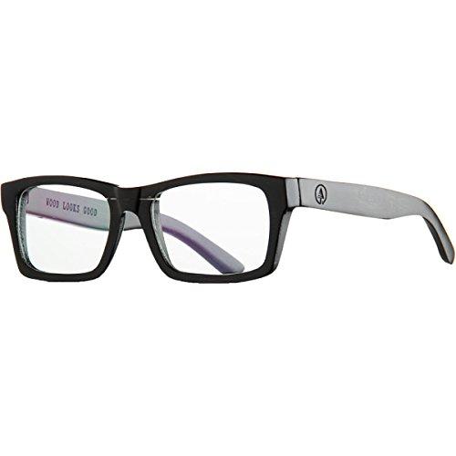 Woodzee Sierra Polarized Rectangular Sunglasses,Brown/Yellow,53 mm