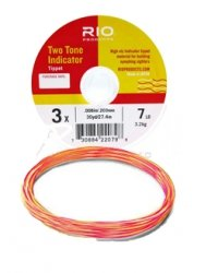 Rio Fly Fishing Tippet 2-Tone Indicator Tippet 2X Fishing Tackle, Clear