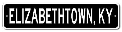 Custom Aluminum Sign ELIZABETHTOWN, KENTUCKY US City and State Name Sign