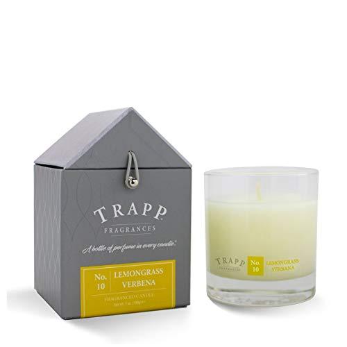 Trapp Signature Home Collection No. 10 Lemongrass Verbena Poured Scented Candle, 7-Ounce (Aromatherapy Verbena)