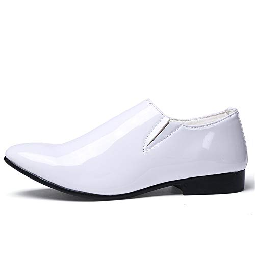 Business scarpe Bianca Color in moda vernice Bianca Color casual Sfilata 2018 Casual Scarpe Stringate scarpe Off EU shoes Basse punta da The Xujw Oxford a 39 di uomo Dimensione 7wAfTx