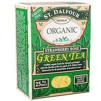 ST DALFOUR GREEN TEA,OG2,STRAW/ROSE, 25 BAG
