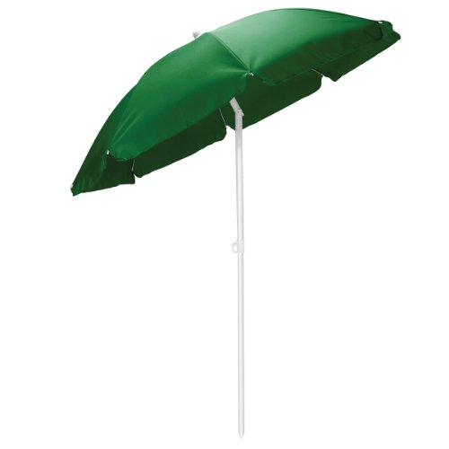 Picnic Time Outdoor Canopy Sunshade Umbrella 5.5″, Green